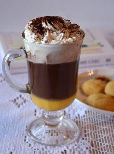 Gorąca czekolada z ajerkoniakiem Latte, Nespresso, Hot Chocolate, A Food, Pudding, Coffee, Drinks, Cooking, Tableware
