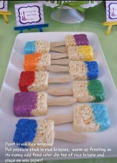 Paint brush rice krispies