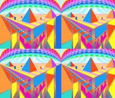 Pyramid2-Blythe's Fabric Boutique - designer fabrics by Blythe Ayne on Spoonflower