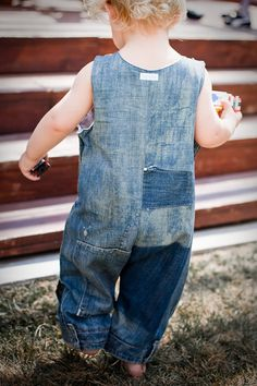 Upcycled Denim Jumpsuit 12m to 5y reserved listing by lopiloo