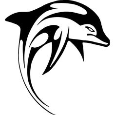For your consideration is a die-cut vinyl Tribal Dolphin decal available in multiple sizes and colors. Vinyl decals will stick to any smooth clean surface including glass, walls, laptops, phones, cars Tribal Dolphin Tattoo, Tribal Tattoos, Stencil Animal, Polynesian Tattoo Meanings, Polynesian Tattoos, Polynesian Tribal, Dolphin Clipart, Beach Clipart, Truck Tattoo