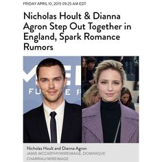 """@struck_by_darebear's photo: """"Nicholas Hoult and Dianna Agron have been spending time together in a decidedly low-key way lately, hitting up local watering holes in London rather than glitzy nightclubs. The actors have been to The Black Lion in Hammersmith and The Gallery in West Hampstead, according to local reports, with the Sun saying they engaged in a little PDA at the latter establishment. A Gallery employee confirmed to PEOPLE that the couple did stop by last Friday. """"They came in with…"""