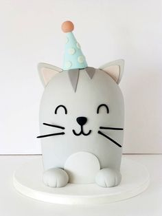 Cute Cat Birthday Cake Cute Cat Cake Without Tail Custom Sprinkles For A Birthday. Cute Cat Birthday Cake Soooooo Cute Cat Cake Cat Cake Catcake Birthday Ideas In Kitty Party, Fondant Cakes, Cupcake Cakes, Dog Cakes, Baby Cakes, Bolo Original, Cake Designs For Kids, Birthday Cake For Cat, Birthday Ideas