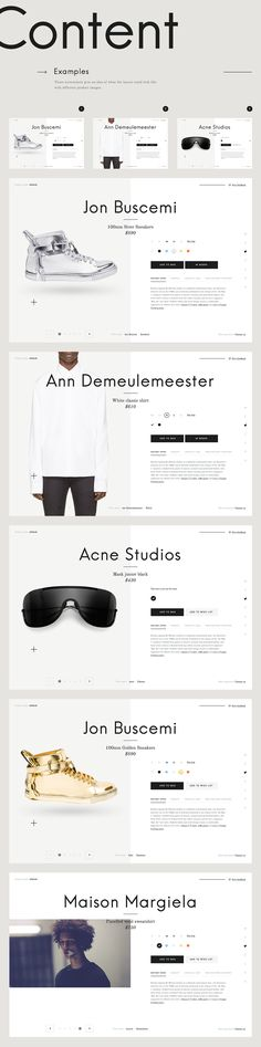 Case Study: MrPorter Product Card Redesign Concept on Behance - Shopify Website Builder - Build the Shopify Ecommerce site within 30 minutes. - Case Study: MrPorter Product Card Redesign Concept on Behance Design Sites, Ux Design, Page Design, Layout Design, Interface Web, Interface Design, Website Layout, Web Layout, Website Design Inspiration