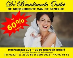 Bruidsjurken tot 70% korting van bekende merken van € 199 tot € 499 goedkoopste van de Benelux -- Neerpelt
