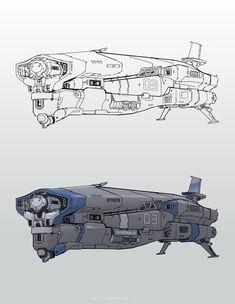Spaceship 03, CHENGCHUN LIU on ArtStation at https://www.artstation.com/artwork/N4m3q