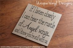 Rustle of Angel wings  Quote  Vinyl Wall by uniquevinyldesigns4u, $10.00