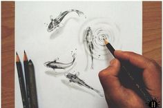 draw fish underwater illusion.... Art Ed Central