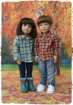 Pattern for a His n Hers Lumberjack Style Shirt to fit Kidz n Cats Dolls #23 by WellyBs on Etsy https://www.etsy.com/listing/213569289/pattern-for-a-his-n-hers-lumberjack