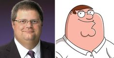 Real Life Peter Griffin.  Cartoon look alikes.