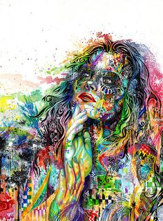 """""""Enigma"""", colorful mixed media drawing by Tustin, CA based artist Callie Fink. Psychedelic Art, Psy Art, Art Graphique, Love Art, Amazing Art, Awesome, Painting & Drawing, Fantasy Art, Art Photography"""