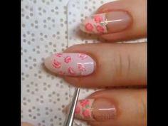 cute amazing pink nail art