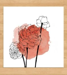 Ranunculus Watercolor Spot Art Print by Morgan Kendall Art on Scoutmob Shoppe Art Inspo, Kunst Inspo, Painting Inspiration, Watercolor And Ink, Watercolor Flowers, Watercolor Paintings, Art And Illustration, Canvas Art, Canvas Prints