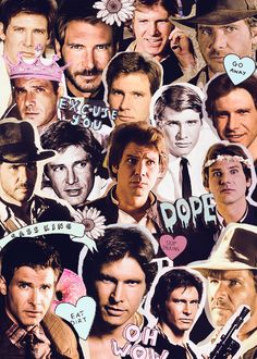 Harrison Ford - thank you, whoever made this Harrison Ford Young, Harrison Ford Indiana Jones, Harison Ford, Big Crush, Crush Crush, Collage Art Mixed Media, Star Wars Wallpaper, Star War 3, The Force Is Strong