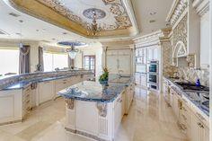 JLCS Luxury Interiors - Kitchen - Decorative Venetian Plaster Ceiling & Venetian Plaster Walls - Greenwich Ct.