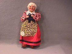 Vintage Original Cloth Doll By Artist Bernard Ravca,Pre-1939,Paris