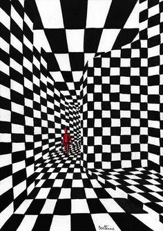 Chess Art - 1 by Ben Heine Image Illusion, Illusion Art, Cool Optical Illusions, Ben Heine, Damier, 3d Drawings, Surreal Art, Geometric Art, Belle Photo