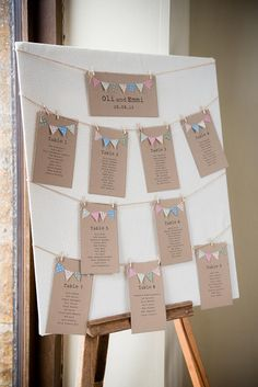 Pretty & Fresh White Summer Informal Wedding Bunting Table Plan Seating Chart Pretty White Summer Informal Wedding www.jessicagracep The post Pretty & Fresh White Summer Informal Wedding appeared first on Ideas Flowers. Wedding Themes, Wedding Signs, Diy Wedding, Wedding Decorations, Wedding Day, Wedding White, Table Wedding, Wedding Favors, Burgundy Wedding