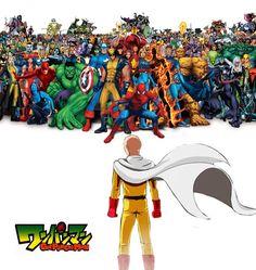 ONE PUNCH MAN, Saitama VS  Marvel Hero | I vote for Saitama | Who do you vote for?