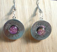 Earrings Shot gun shell jewelry Winchester or by AnnieGetUGun, $22.95