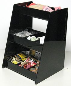 Coffee condiment organizer with 3 partments for stirrers sugar