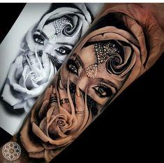 Crochet Hair Styles crochet hair styles for little girl Dope Tattoos, Hand Tattoos, Full Sleeve Tattoos, Badass Tattoos, Sleeve Tattoos For Women, Forearm Tattoos, Body Art Tattoos, Gypsy Tattoos, Portrait Tattoos