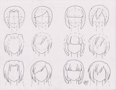 Practice: hairstyle for girls!! 01 by FutagoFude-2insROID.deviantart.com on @DeviantArt