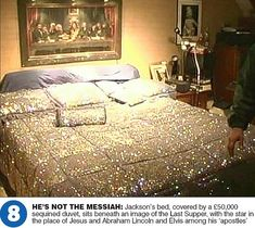 MJ's bedroom at Neverland (photo taken during the police raid)