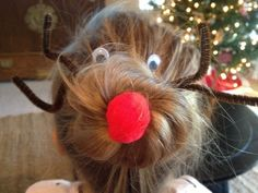 Rudolf Hair Bun DIY from Mama and Baby Love