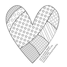 great heart for embroidery