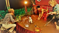 Phan Thanh Liem developed water puppetry of Vietnam up to a higher level of performance: one man show in a private home theater.