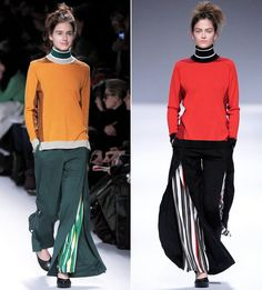 Beautiful! Double trousers by Issey Miyake