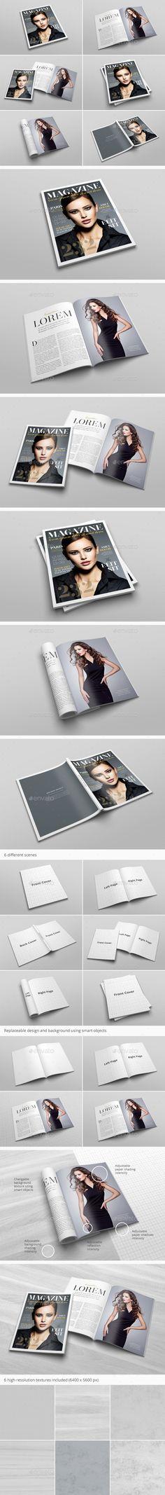 US Letter Magazine Mockup - Print #Product #Mock-Ups Download here:  https://graphicriver.net/item/us-letter-magazine-mockup/20286685?ref=alena994