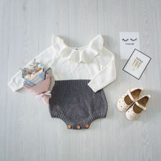 55096b7f4 Ins Hot Autumn Toddler Baby Girl Clothings Ruffles Princess Girl Sweet  Knitted Overalls Infant Romper 9M 4T-in Bodysuits from Mother & Kids on ...