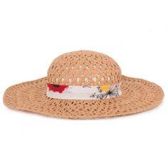 Floral Ribbon Straw Hat