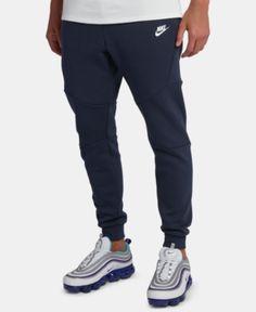 72ad0382102bce Nike Men s Tech Fleece Joggers - Blue 2XL Fleece Joggers