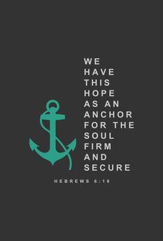 Hope in Jesus Anchors the Soul (Hebrews 6:19) by tylerneyens on DeviantArt
