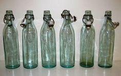 Vintage glass bottle Aqua Glass Aqua Tint by TheBonnieBatch Old Bottles, Glass Bottles, Perfume Bottles, Aqua Glass, Water Bottle, Container, Jar, Unique Jewelry, Handmade Gifts