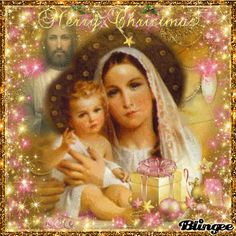 "Mary & Baby Jesus With Adult Jesus In Background~Merry Christmas To ""ALL"" My Friends 3"