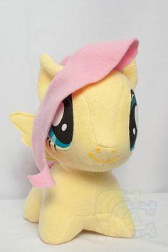 Chibi FlutterShy MLP Hand-Made Custom Craft Plush