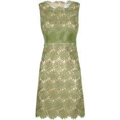 Valentino Flower Appliqué Shift Dress