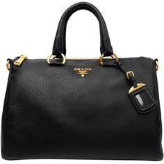 PRADA Vitello Diano Zip Top East West Bag ($1,190) ❤ liked on Polyvore featuring bags, handbags, purses, bolsas, taschen, borse, prada handbags, leather handbag purse, prada and genuine leather handbags