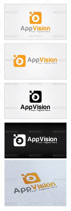 App Vision Logo Template by mia3d Re sizable Vector EPS and AiPSD 4917*3650 Color customizable Fully editable Free font used: http://www.dafont.com/harabara.font