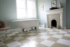 bathroom pastel vintage