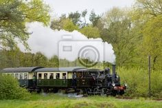 steam train, Boekelo - Haaksbergen, Netherlands Wall Mural ✓ Easy Installation ✓ 365 Day Money Back Guarantee ✓ Browse other patterns from this collection! Mbs, Wall Murals, Netherlands, Museum, Train, Babies, Image, Wallpaper Murals, The Nederlands