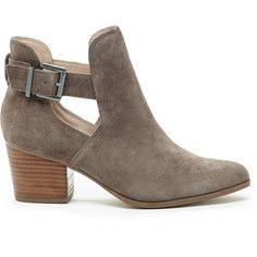 Sole Society Olive Cut-Out Bootie