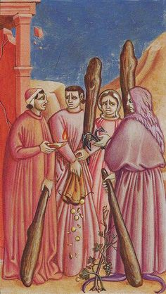 Four of Wands - Giotto Tarot by Guido Zibordi