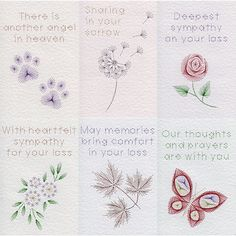 Value Pack No. 71: Sympathy in Special Occasions patterns at Stitching Cards - ePatterns for paper embroidery