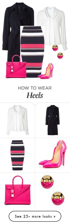 """outfit 4001"" by natalyag on Polyvore featuring Theory, Glamorous, Oasis, Christian Louboutin, Yves Saint Laurent and Trina Turk"