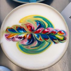 Rainbow Latte - Magical Rainbow Foods Straight From A Unicorn Wonderland - Photos